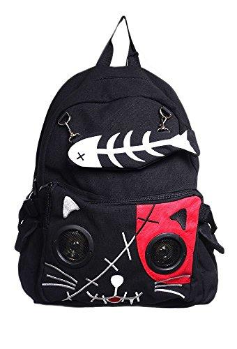 Kat & Bot speaker rugtas rood, Black/Pink,