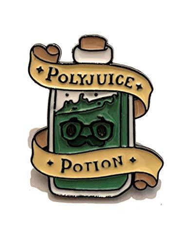 giulyscreations Broche Harry Potter de metal sin níquel inspirado en Pociones Felix Felicis Amortentia Veritaserum Polizumo Polyjuice Poción Hogwarts Pop Cosplay Polisucco