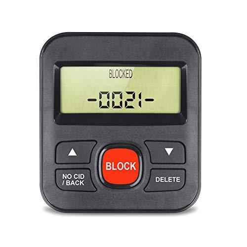 Asudaro Bloqueador de Teléfono CT-CID801 Bloqueador de Llamadas Bloqueador de Llamadas de Línea Fija Principal Bloquee los Números Que Desee Capacidad de 4000 Números