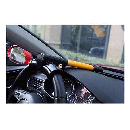 HWHCZ Wegfahrsperren Autolenkradschloss für Autos, kompatibel mit Lenkschloss Nissan GT-R, T-BAR-Lenkrad-Wegfahrsperre Anti-Diebstahl einziehbar (Color : Yellow)