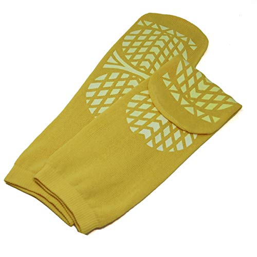 Secure Step Double-Sided Non Slip Comfort Safety Sock - Yellow - XLarge (2 Pair) - Men