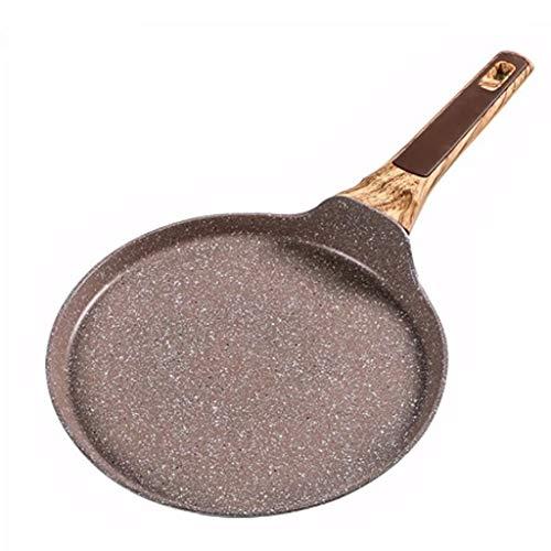 XXDTG Sartén antiadherente de piedra médica de 24 cm y 26 cm, sartén de capas para pasteles, crepes, crepe, sartén plana, plancha para el desayuno, tortillas para hornear (Size : 26cm)