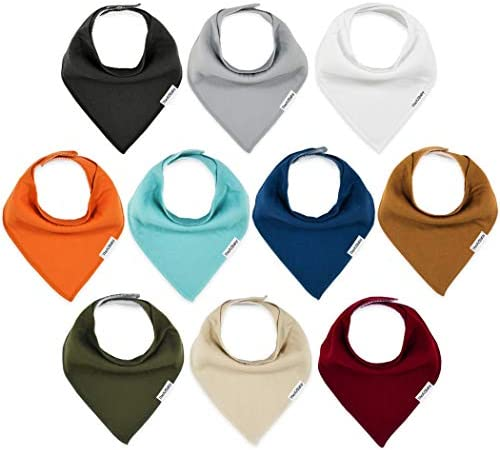 TheAZBaby Baby Bandana Drool Bibs 10 Pack Baby Bibs for Boys Girls Unisex for Teething and Drooling product image