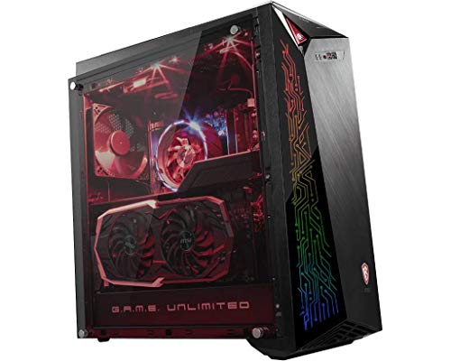 MSI Infinite A 8RC 296UK Tempered Glass Gaming PC - Intel Core i5 8400, 16GB DDR4, 1TB SSD & 2TB HDD, NVIDIA GeForce GTX 1060 6GB, WIFI 5, Bluetooth 4.2, Windows 10 Home - 9S6-B91531-296 (Renewed)