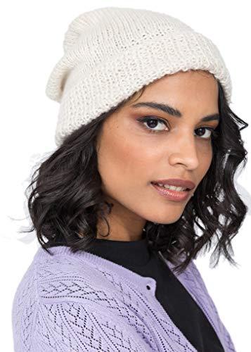 likemary Slouch Beanie Hat Mujer - 100% lana merino tejida invierno lana