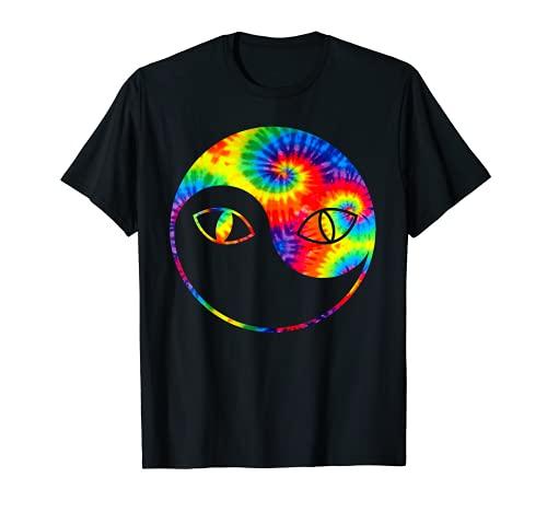 Tie Dye Cat   Camiseta Yinyang Cats Eyes Kitty Lovers Gifts Camiseta