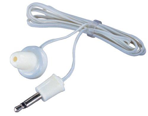 Blanco Mono auriculares magnéticos con conector de 3,5 mm Soundlab...