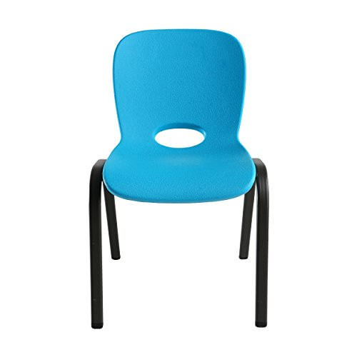 LIFETIME 80472 Kids Stacking Chair (4 Pack), Glacier Blue