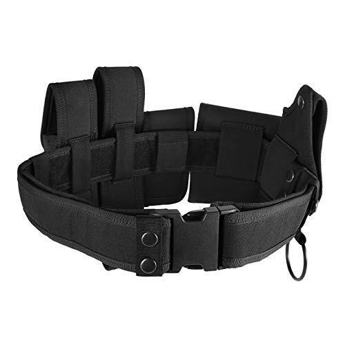Blusea Cintura tattica militare, durevole e rimovibile, per personale di sicurezza, polizia, ecc., 6 pezzi.