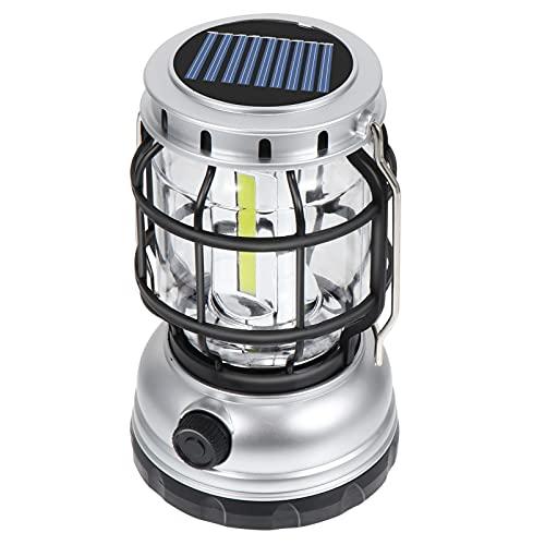 ABOOFAN Linternas LED de camping con energía solar USB recargable de emergencia luces de mano lámpara de la tienda para cortes de tormenta escalada al aire libre aventura pesca
