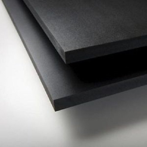 "24"" X 24"" X 0.250"" Thick Black Foam PVC Sintra - SIBE-R Plastic Supply"