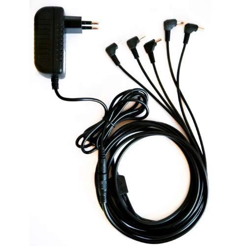 TOP CHARGEUR * Adattatore Caricatore Caricabatteria Alimentatore 9V con Cavo di Estensione Prolunga DC Divisore per Alimentare Fino a 5 Tastiera Korg Volca