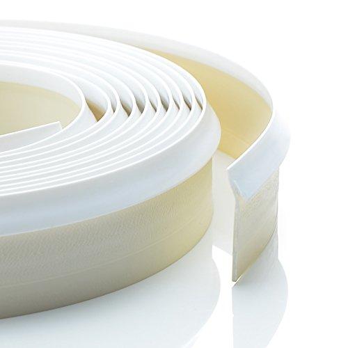 4,2m Dichtungsprofil weiß Dichtleiste Nischenprofil PVC Fugen Ersatz Arbeitsplatte Rückwand