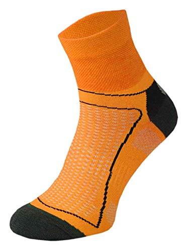 Comodo - Calze Ciclismo Corte Fluo   Calzini Sportive Colorate per Estive   Uomo e Donna (43-45, Neon Arancio)