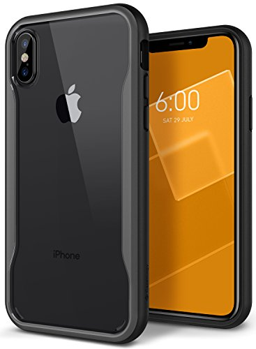 Caseology Coastline for Apple iPhone Xs Case (2018) / for iPhone X Case (2017) - Slim & Transparent - Gray