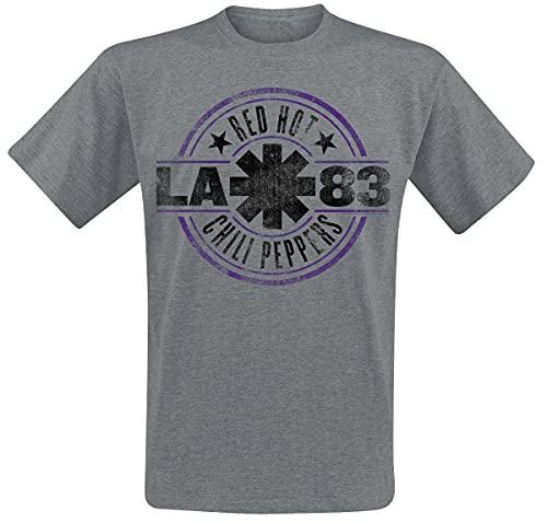 Red Hot Chili Peppers LA 83 Männer T-Shirt grau meliert L