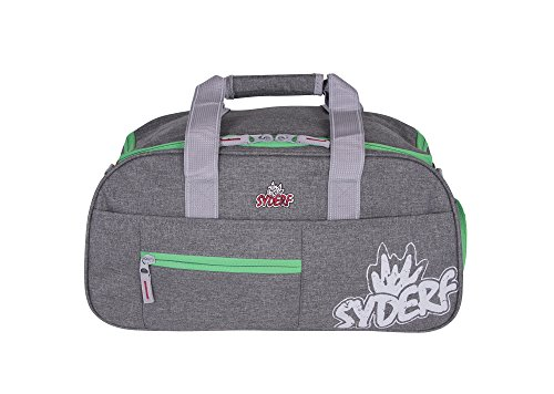 Syderf Schulsporttasche FIVE mit Trinkflasche - viele versch. Farben (STONE (Grau / Grün))