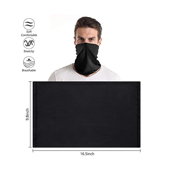 Dlala Neck Gaiter Face Mask UV Protection Dustproof Bandana Breathable Summer Neck Cover Scarf for Running Cycling