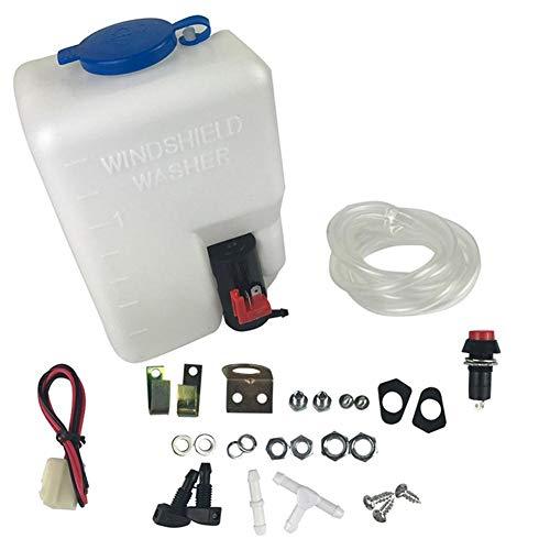 RUNMIND Kit de Bomba de Depósito Universal para Limpiaparabrisas de Coche (12 V, 1,5 L)