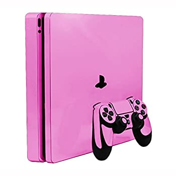 Soft Pink Vinyl Decal Faceplate Mod Skin Kit for Sony PlayStation 4 Slim  PS4S  Console by System Skins
