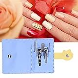 xiji Kit de cortaúñas portátil, 5pcs / Set Juego de cortaúñas para Clip de Corte de Cejas para Hombres para Cortar uñas Gruesas para Mujeres