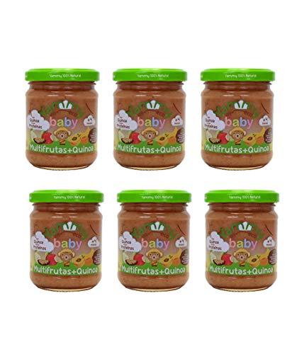 Yammy Tarrito De Multifrutas Quinoa Ecológico 195Gr X 6 Uds 4M+ 6 Unidades 2000 g