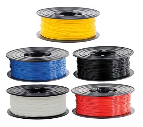 PLA Filament 1,75mm 3D Drucker oder Stift 5 er Set 5x 1Kg viele Farben