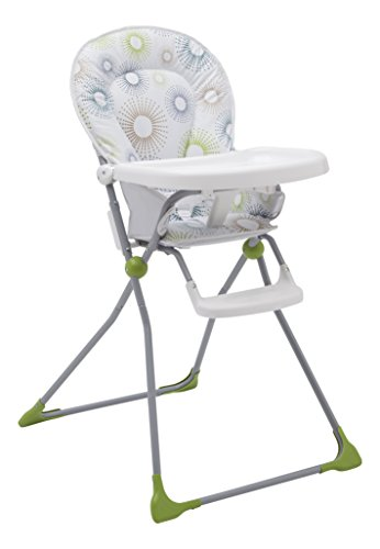 Delta Children EZ-Fold High Chair for Babies and Toddlers - Compact High Chair with Adjustable Tray, Starburst