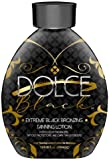 Dolce Black Bronzer Tanning Lotion - Outdoor/Indoor Tanning Lotion for Tattoo & Color Fade Protection - Anti-Orange, Anti-Aging & Anti-Wrinkle Natural Tanning Lotion - for Men & Women
