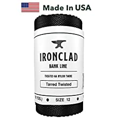 #12 1LB TWISTED BANK LINE - 1580FT (527 YDS) of 100 lb Tensilve Strength Type AA utility cordage, perfect for fishing, hunting, camping and bushcraft. PROTECTED FROM THE ELEMENTS: Ironclad Supply Bank Line is made from 100% Nylon Twine that is coated...