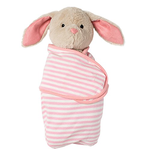 Manhattan Toy Baby Bunny Stuffed Animal with Swaddle Blanket, 11'