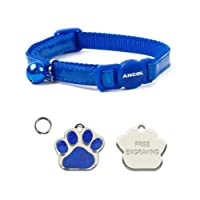 Safety snap apart cat collar Designed to quick release if cat is caught FREE ENGRAVING ON YOUR PERSONALISED CAT TAG - Please make sure you send us your engraving details in the gift option box or via an Amazon message Reflective Gloss Cat Collar - Fu...
