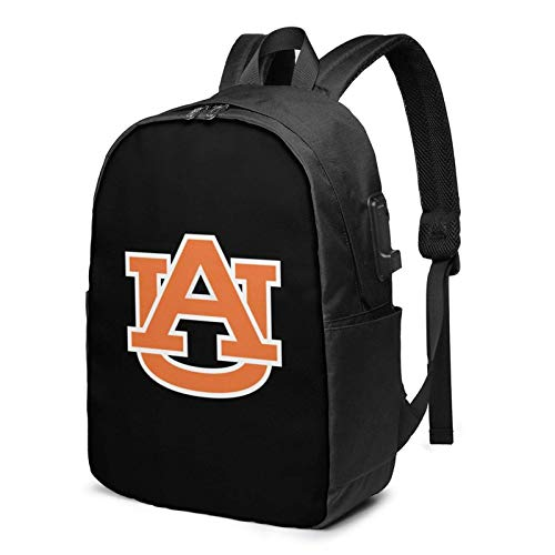 Lawenp Auburn University Laptop Backpack with USB Charging Port, Business Bag, Bookbag | Fits Most 17 Inch Laptops and Tablets