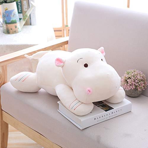 HJHJK Kawaii Hippo Plüschpuppen Gefüllte weiche Daunen Baumwolle Tierkissen Nettes Spielzeug Geburtstag Kinder Kind (Size : 42cm)