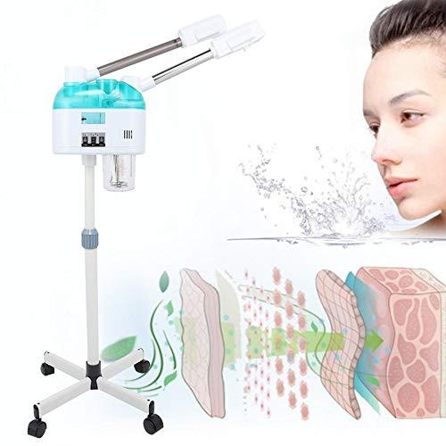 Steamer visage professionnel vapeur visage, chaud + froid Mist Humidificateur à vapeur Hydratation peau autoportant Appareil de soins de la peau Personal System Sauna SPA,B