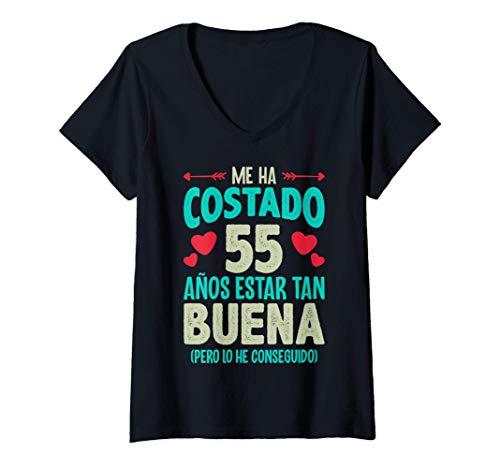 Mujer Me Ha Costado 55 Años Regalo 55 Cumpleaños 1965 Para Ella Camiseta Cuello V