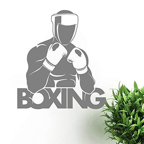 yiyitop Boxer Boxhandschuhe Sport Schild Wand Vinyl Aufkleber Heimtextilien Schlafzimmer Wand Aufkleber Geschenk Junge Flache Aufkleber