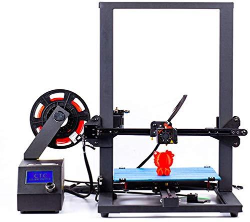 3D-Drucker, LIONPORE A10S Aluminium Zweispindel 3D Drucker Kit für Hochpräzise Duale Z-Achse mit PLA-Filament und TF-Karte (Großformat 300x300x400mm) (A10S 3D Drucker)