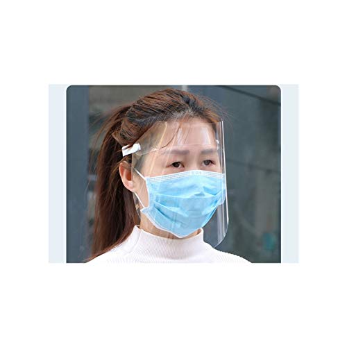 LEIKEGONG Reutilizable Transparente Transpirable Plástico Transparente Careta Proteccion Hombres Y Mujeres Antivaho, A Prueba De Viento Y A Prueba De Salpicaduras (2 Piezas)