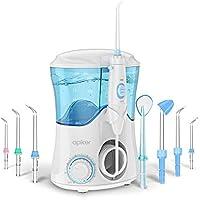 Irrigador Dental Professionale con 8 Boquillas Multifuncionales, Apiker Irrigador Bucal con Capacidad de 600ml, 10 Ajustes de Presión del agua, Limpieza Dientes, Aprobado por la FDA