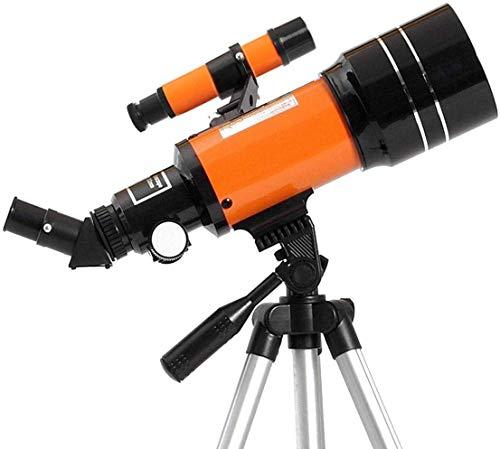 RTOPW Telescopio astronómico del telescopio Refractor 150X HD Espacio trípode Ajustable Tapas de Las Lentes del telescopio versión de la Noche de Viaje Alcance Elescope (Color: Naranja, tamaño: M)