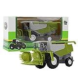 Juguete modelo de coche de cosechadora agrícola de simulación para niños, juguete de vehículo de coche de granjero de aleación de mini agricultor para niños escala 1:50