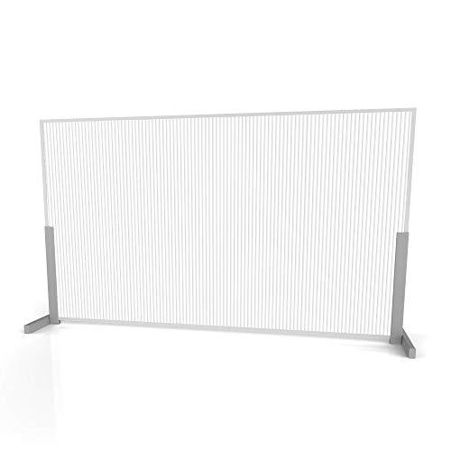 Linea Italia Polycarbonate Semi-Transparent Office Desk Barrier Sneeze Guard Shield Protection, 24' x 72', 24' x 72' x 0.188', Whitefrost