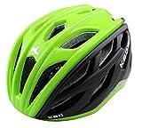 K-E-D Xant Fahrradhelm für Jugendliche und Erwachsene - Allround-Helm in robuster maxSHELL- Technologie, Quicksafe- und Quickstopp-System (M (Kopfumfang 54-59 cm), Green Black)