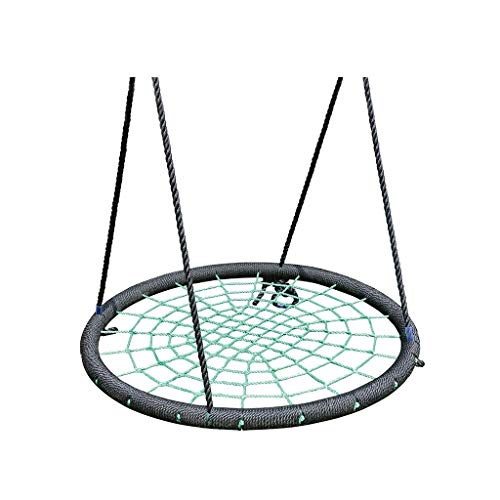 Xuyuanjiashop Spider Web Nid D'oiseau Corde en Nylon Sûr Et Durable Chaise À Bascule Détachable Hamac Réglable Siège Accessoires Intérieur Et Extérieur ( Color : Green-A )