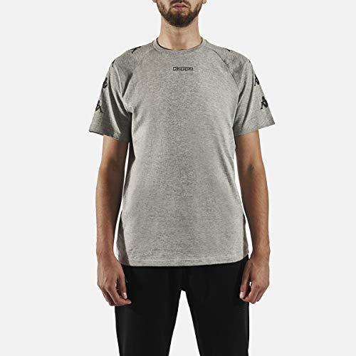 Kappa Klake Camiseta, Hombre, Gris/Negro, 3XL
