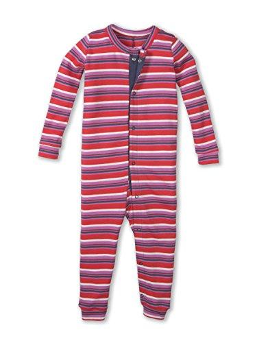 Colored Organics Baby Unisex Peyton Long Sleeve Organic Sleeper - Tribeca Stripe - 3-6M