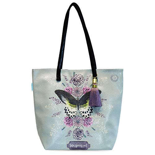 Papaya Damen Reisetasche mit Schmetterlingsmotiv, seltene Tierarten