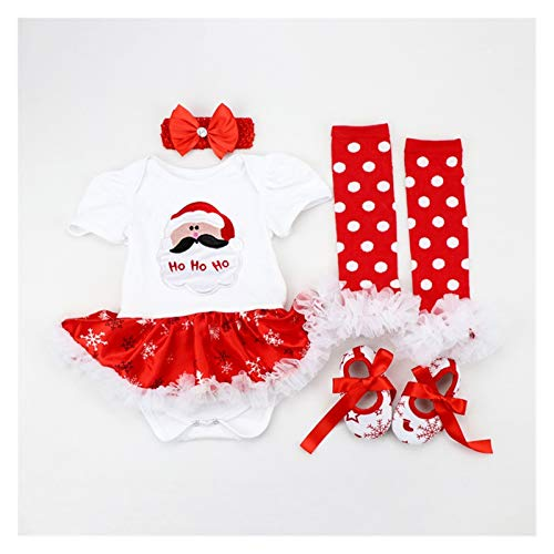 Merry Christmas New Baby Girl Dress Infant Toddler Red Clothes Cute Reindeer Costumes Newborn Clothing Lovely Birthday Party Wear (Color : Sky Blue, Kid Size : 3M)