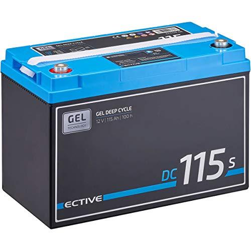 ECTIVE 115Ah 12V GEL Versorgungsbatterie DC 115s mit LCD-Display Solar-Batterie mit integrierten Nachfüllpacks